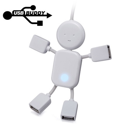 Super USB Buddy 4 Port USB 2.0 Hub