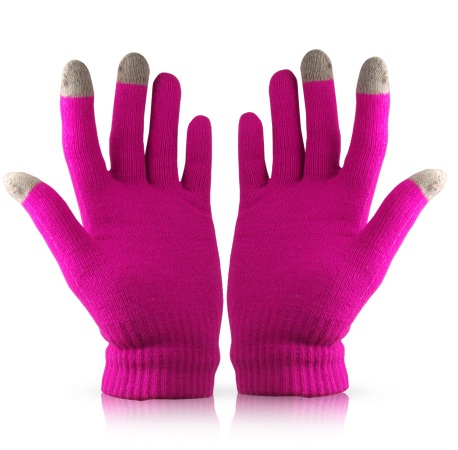 Pink Touch Tip Gloves